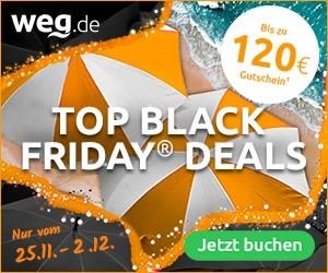 120€ Gutschein über Black Friday bei weg.de
