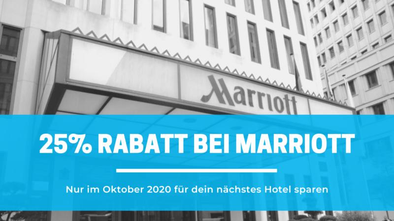 25% Rabatt bei Marriott Hotels inkl. kostenloses Frühstück im Herbst 2020