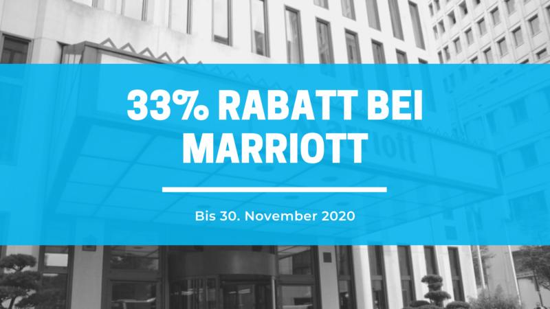 33% Ersparnis bei Marriott