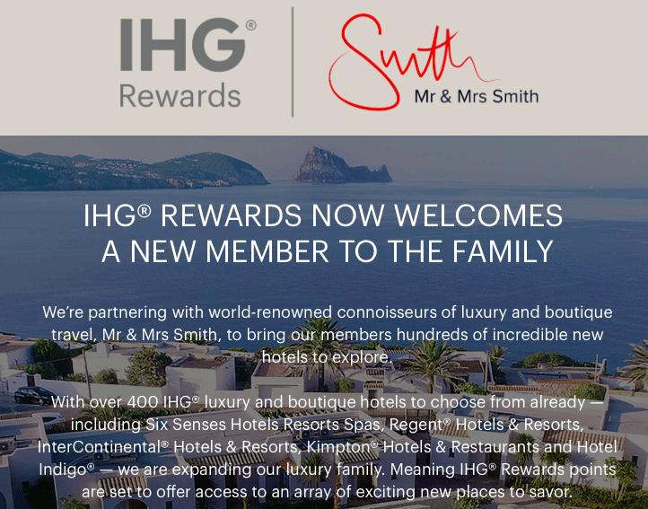 Mr & Mrs Smith gehört nun zu IHG