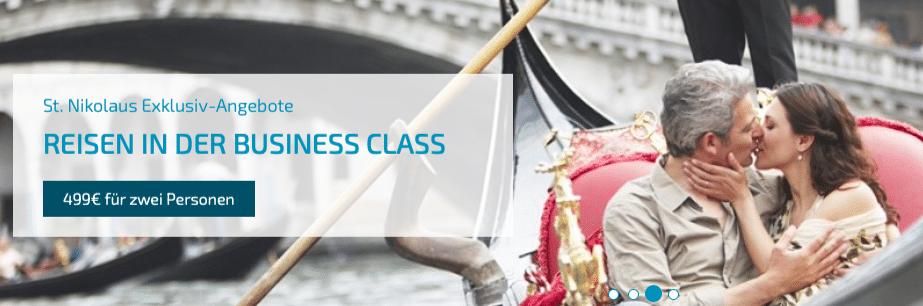 250 Euro in der Business Class innerhalb von Europa