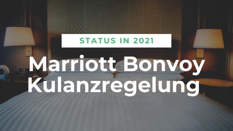 Noch einfacher Dank Marriott Bonvoy Kulanzregelung zum Status in 2021