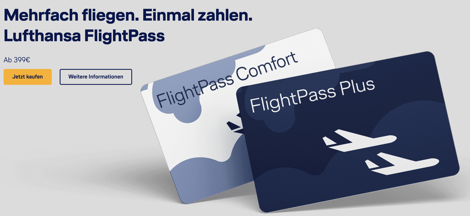 Mit dem Lufthansa Flight Pass zum Festpreis fliegen