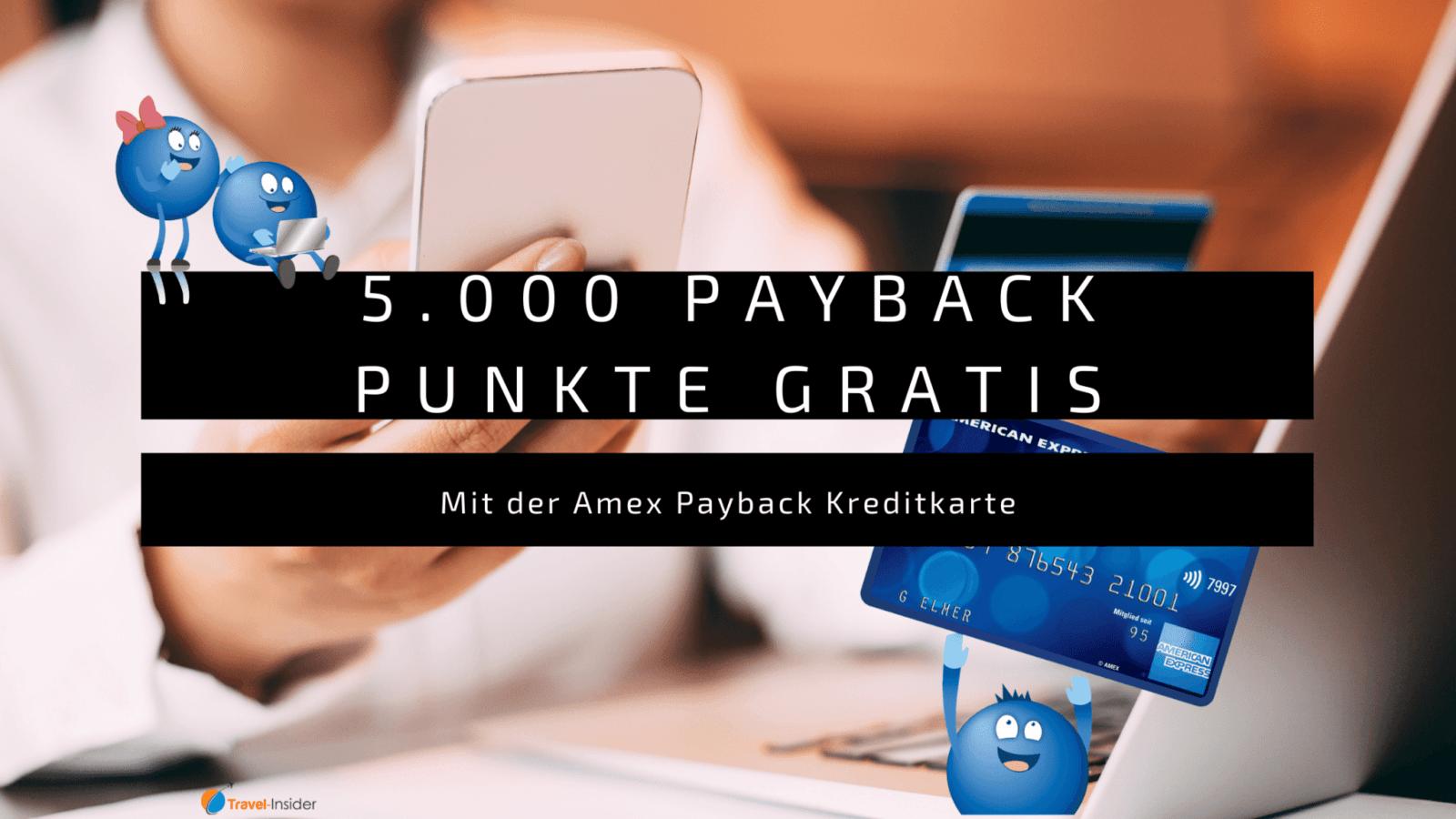 Amex Payback Kreditkarte mit 5.000 Punkten Willkommensbonus