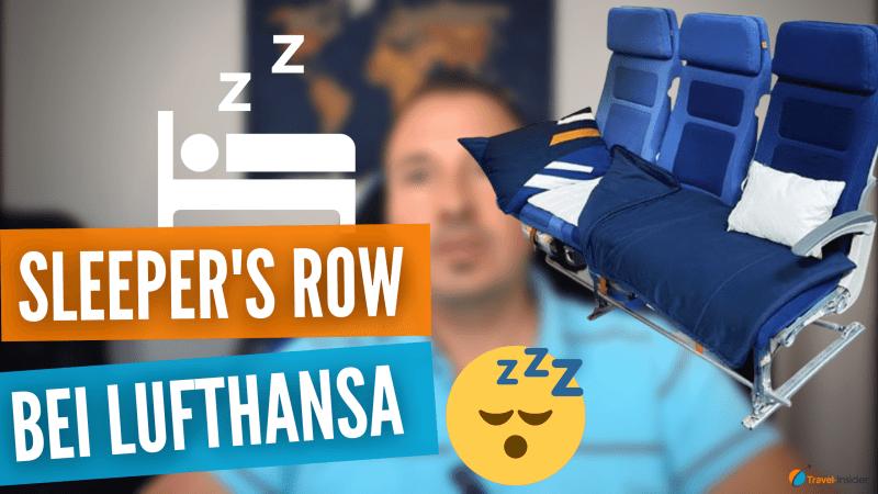 Mehr Komfort mit der Sleeper's Row zum Schlafen bei Lufthansa