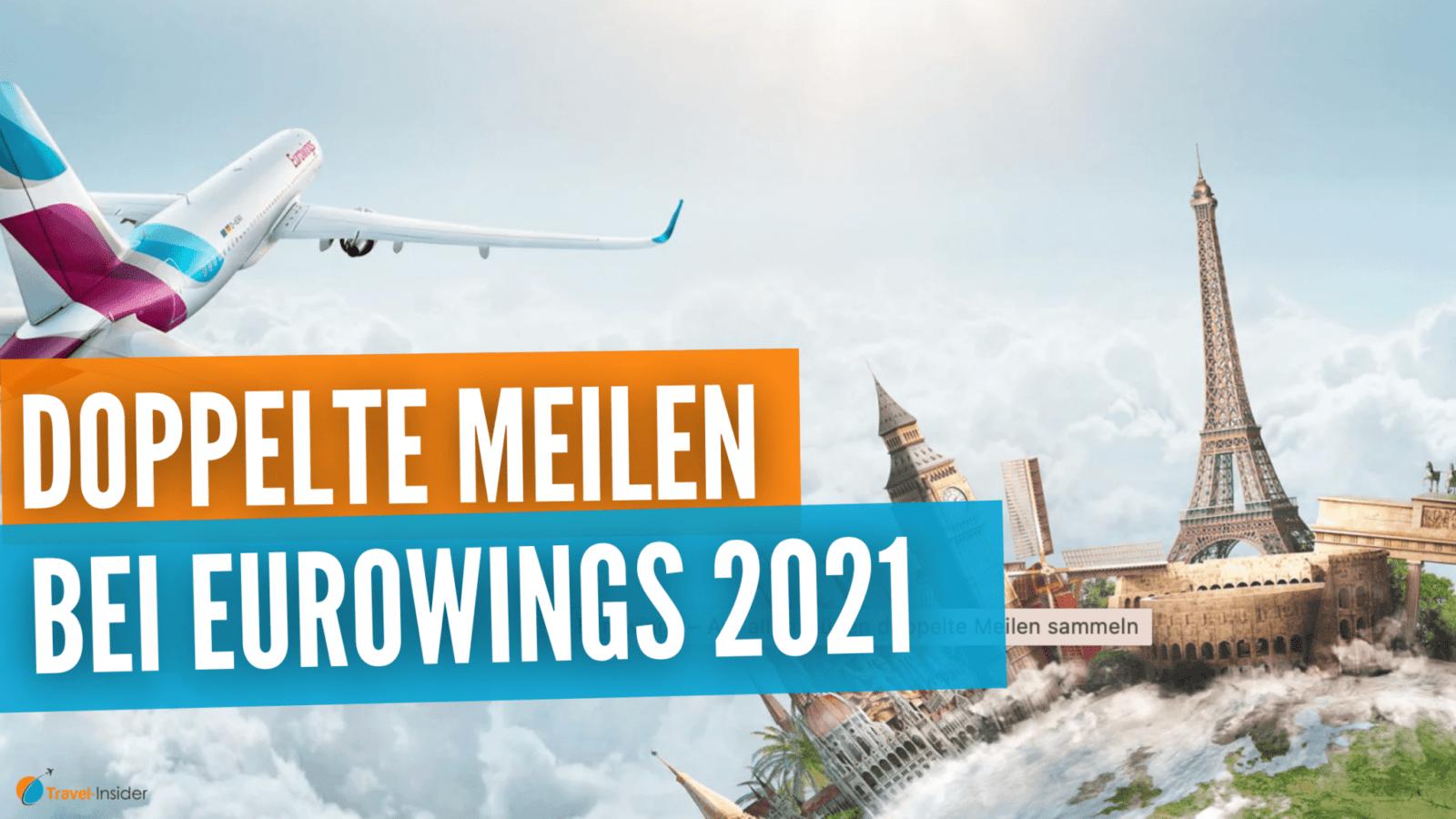 Doppelte Prämienmeilen bei Eurowings bis Ende 2021